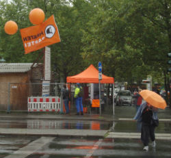 Piraten-Stand Hermann Ehlers Platz